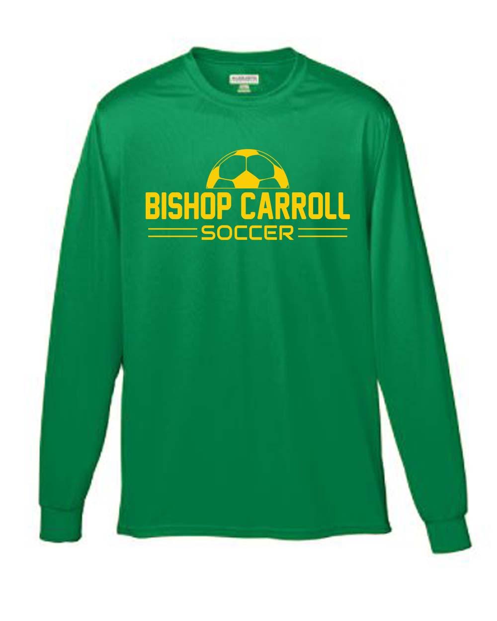 89f63b0c Bishop Carroll Soccer Ball Long Sleeve Moisture Wicking Tee - Atomic